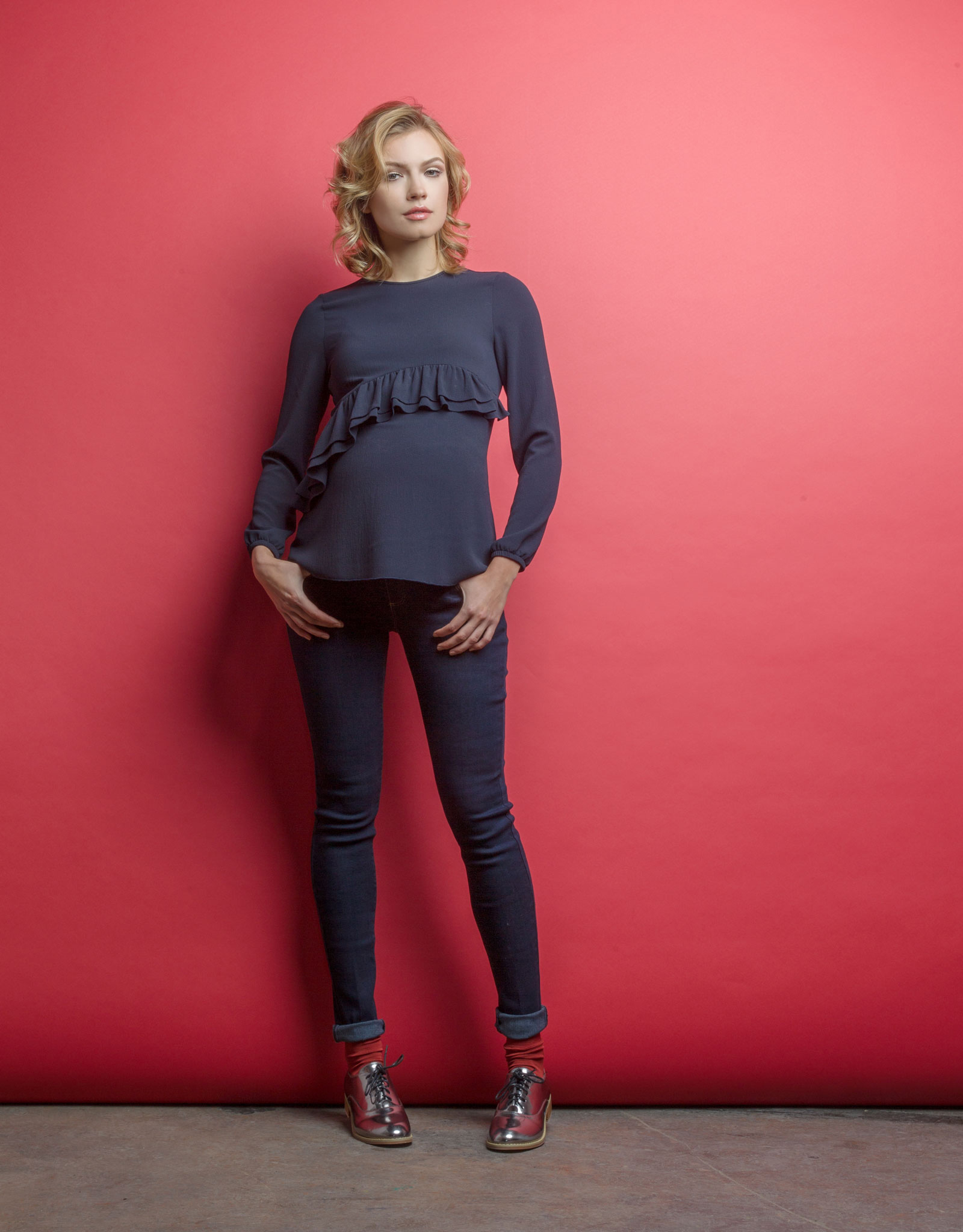 attesa maternity maglia blusa