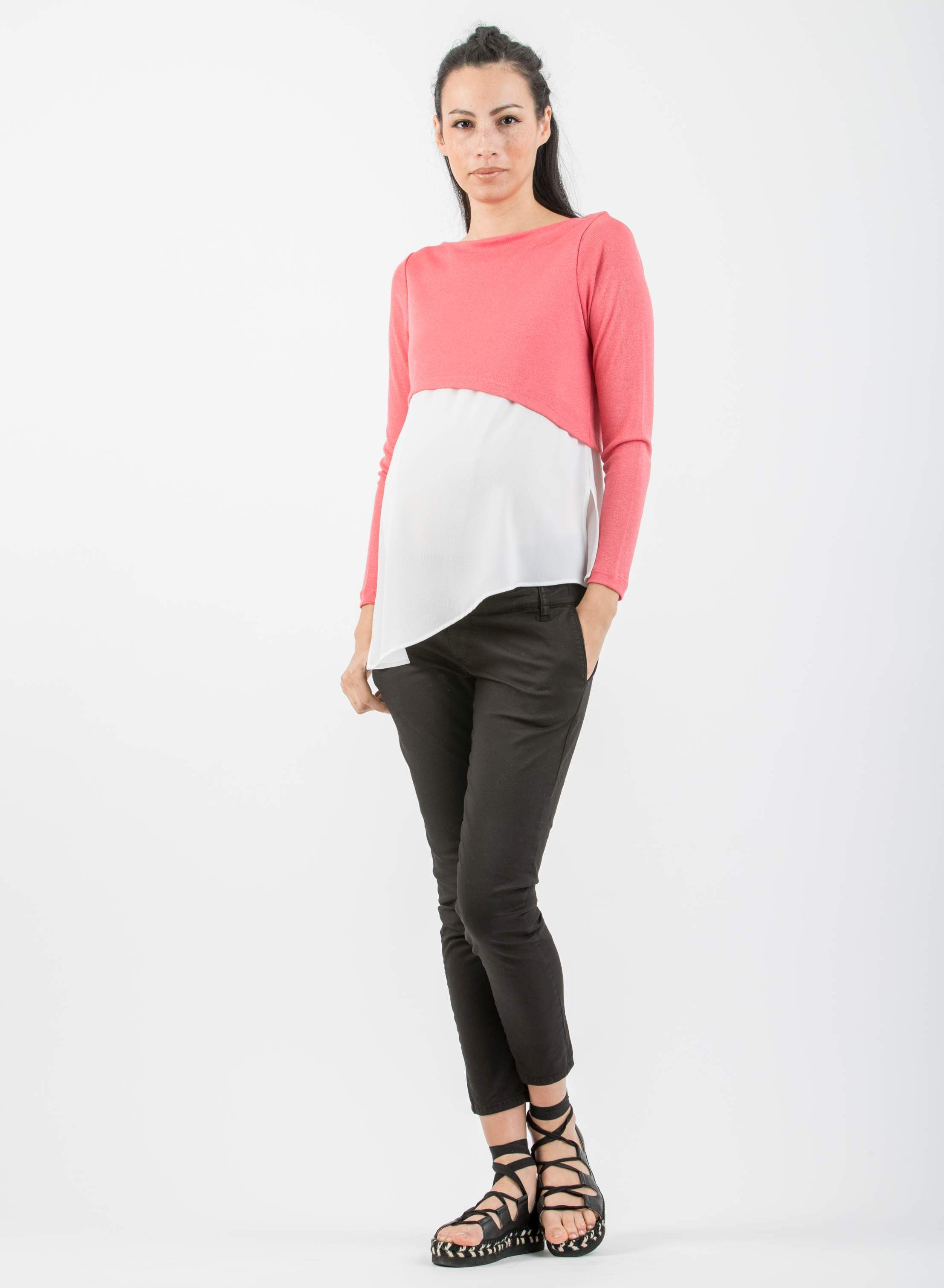 Asymmetric Maternity Jumper