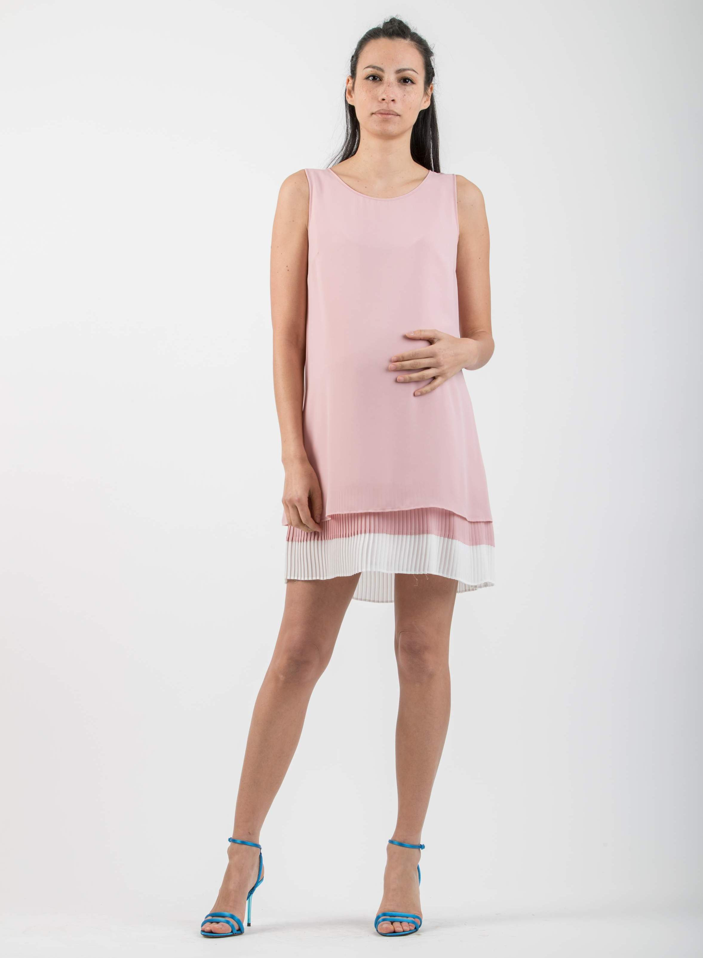 fbe7e745a5a8 Pleated Maternity A-Line Dress - abbigliamento premaman
