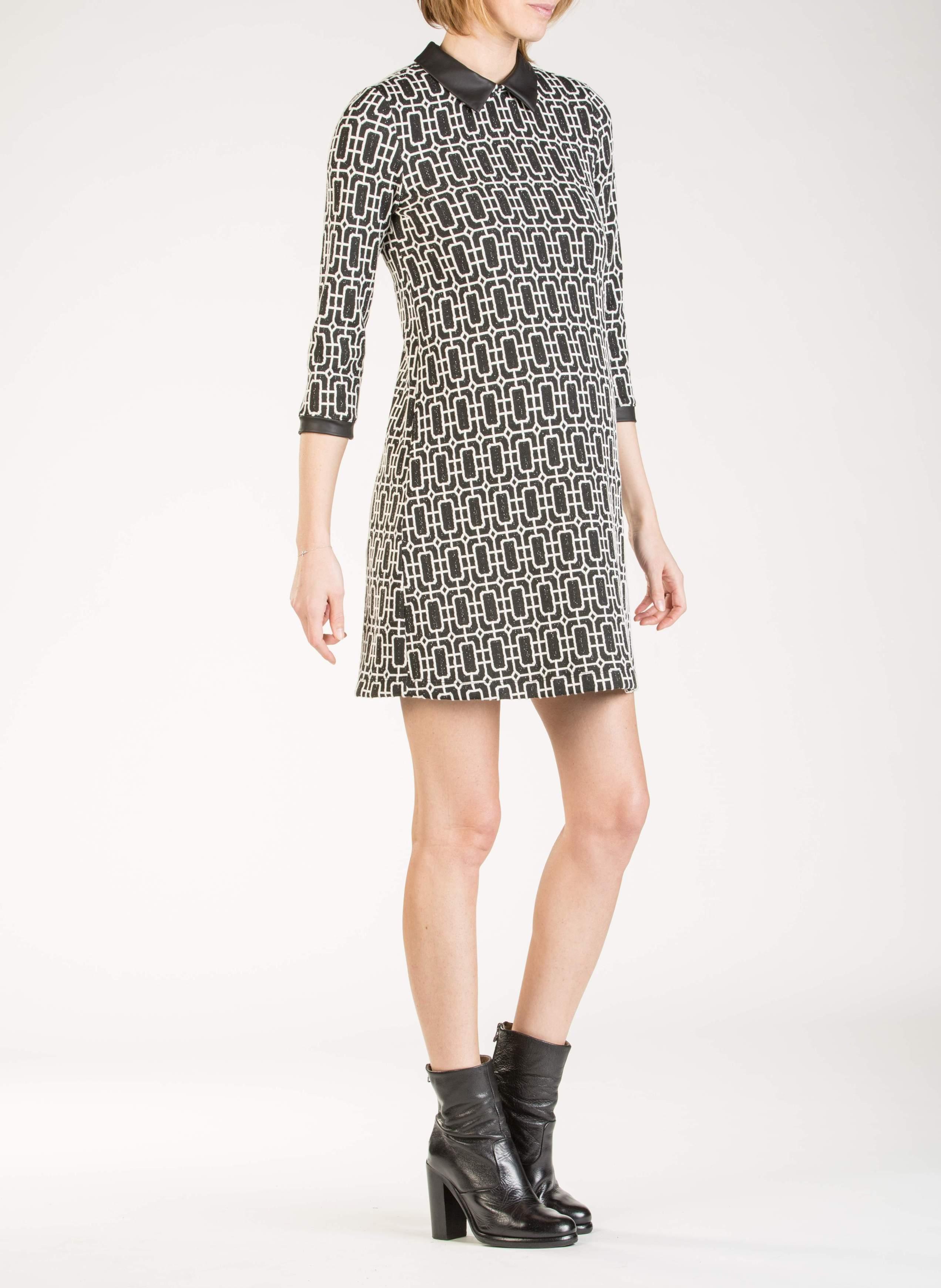 138e04b1fe59 Jacquard Maternity Dress with Collar - abbigliamento premaman