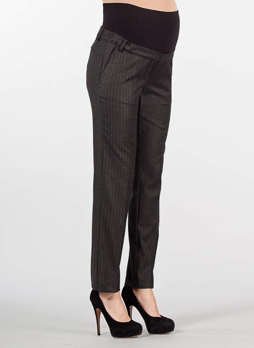 Tailored pinstripe cropped maternity trousers ...