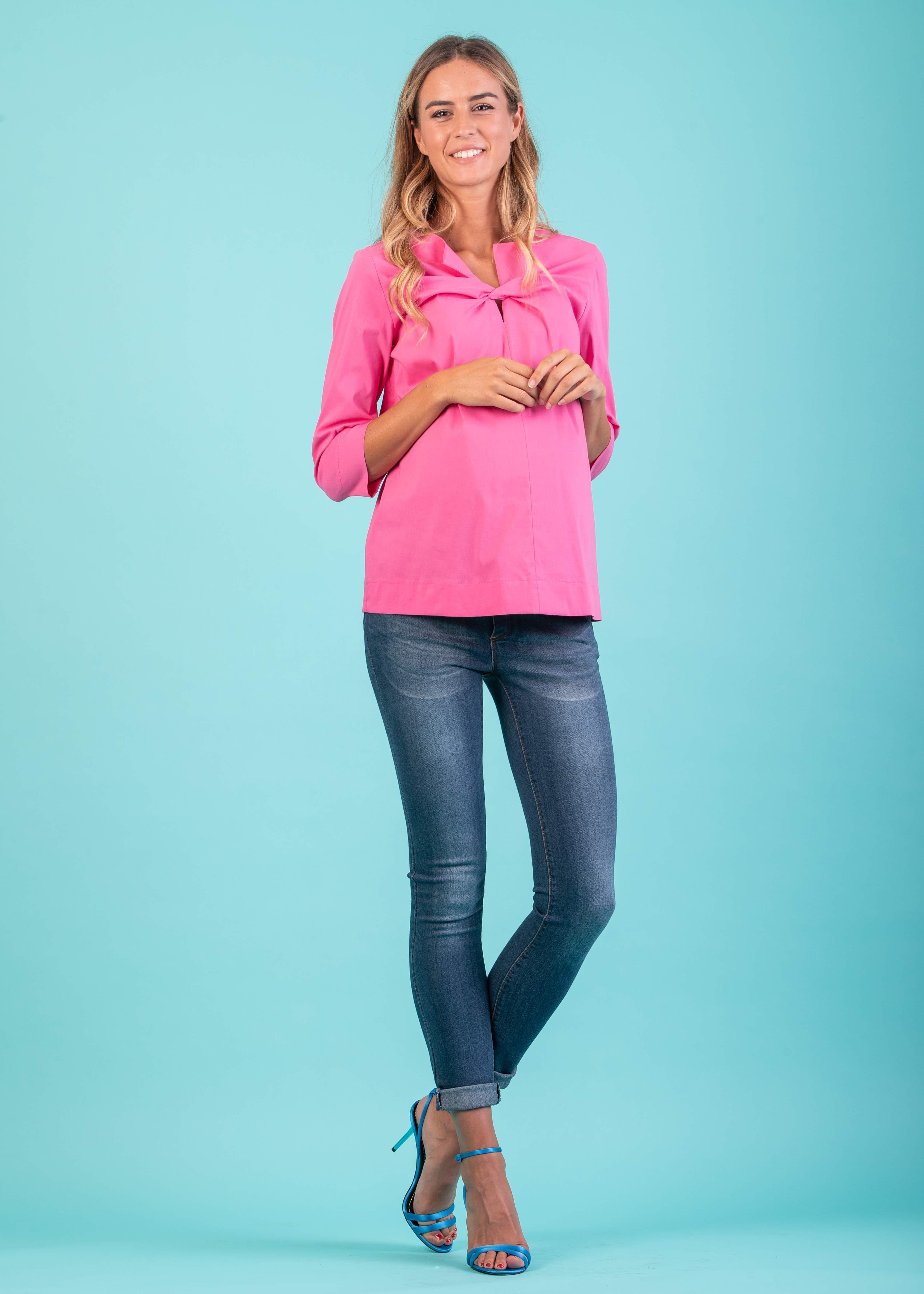 e62de3e61d13 Jeans - Jeans Skinny Premaman con Effetto Slavato Medio
