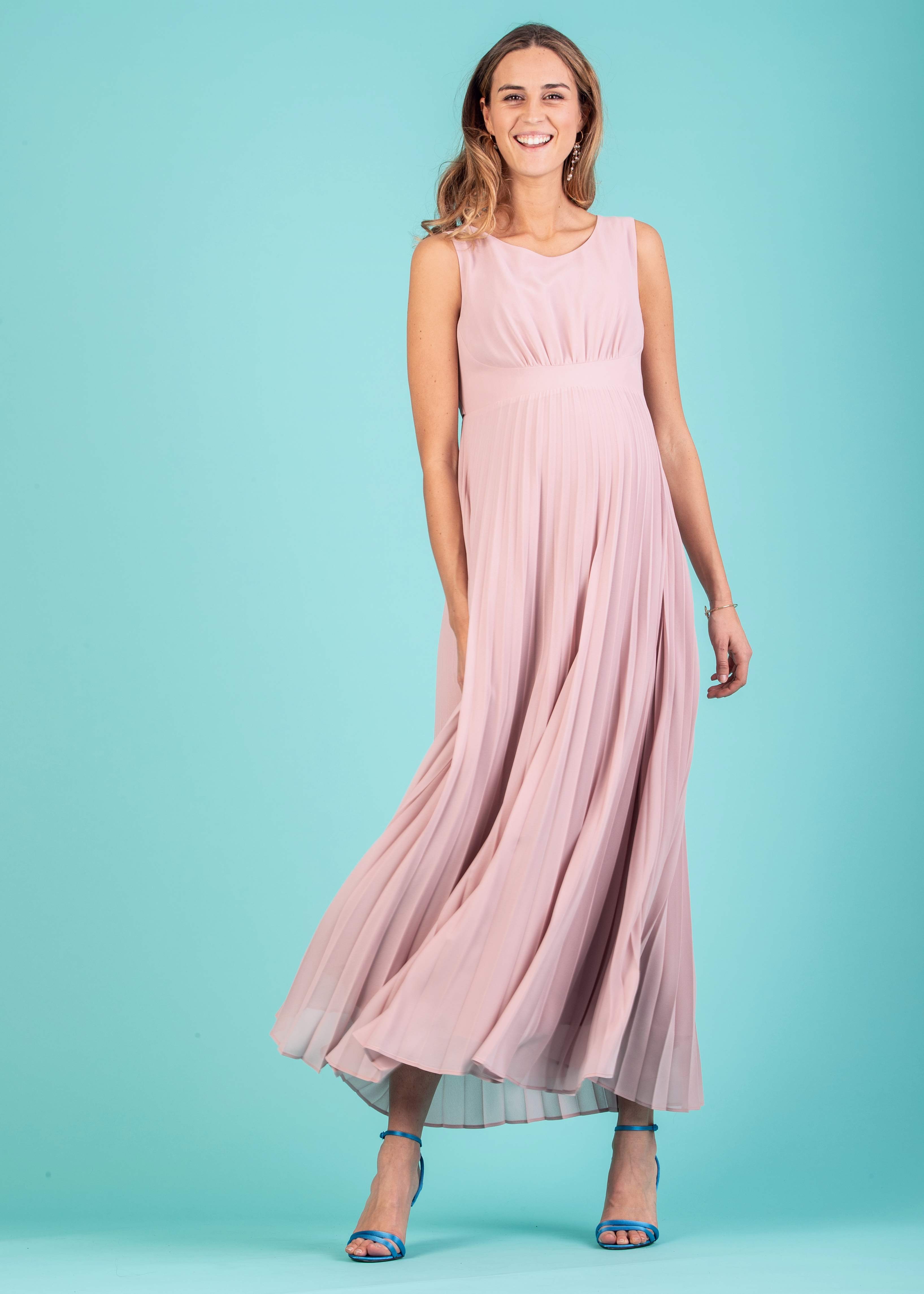 f6aa981ae9 Dresses - Long Maternity Dress with Soleil Pleated Skirt | Attesa ...