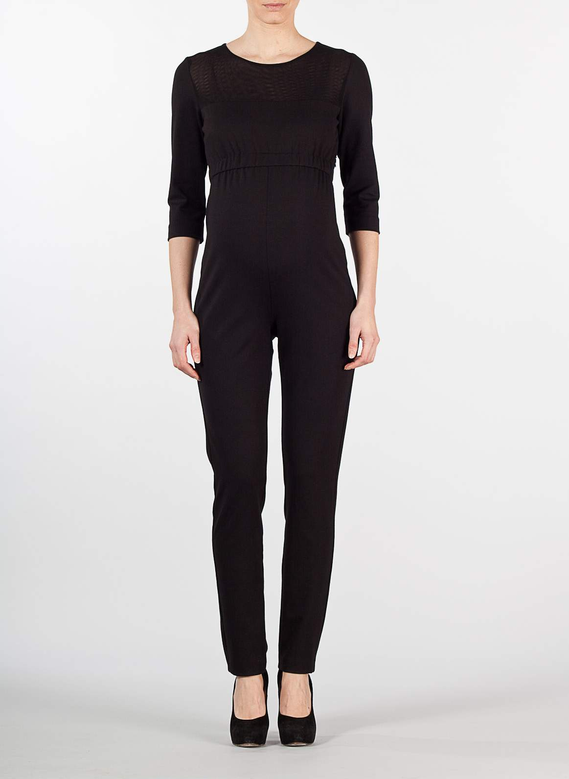 Attesa-Maternity Maternity Jumpsuit with elasticated waistband
