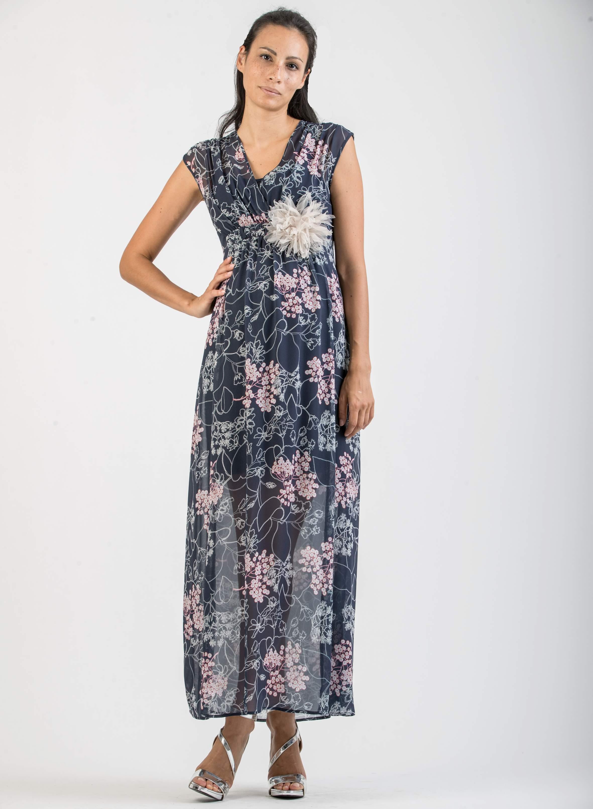 6a74d7a4d67b4 Dresses - Floral Print Maternity & Nursing Dress   Attesa Maternity