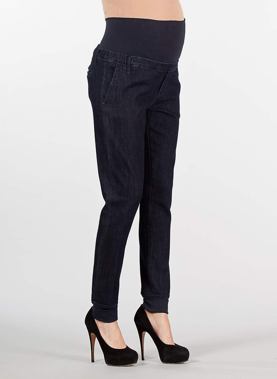 Chino Maternity Jeans with Ankle Cuffs