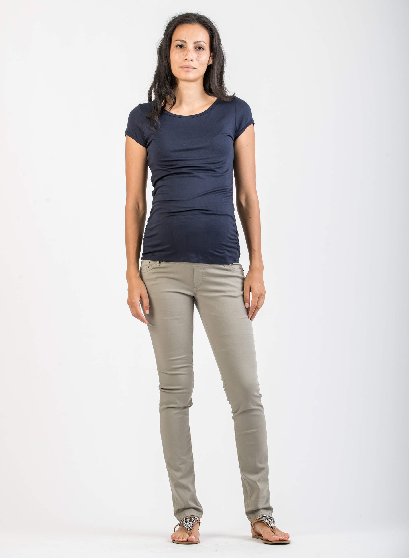 ab92e62970a9 Pantaloni - Pantalone Premaman Skinny in Cotone Leggero