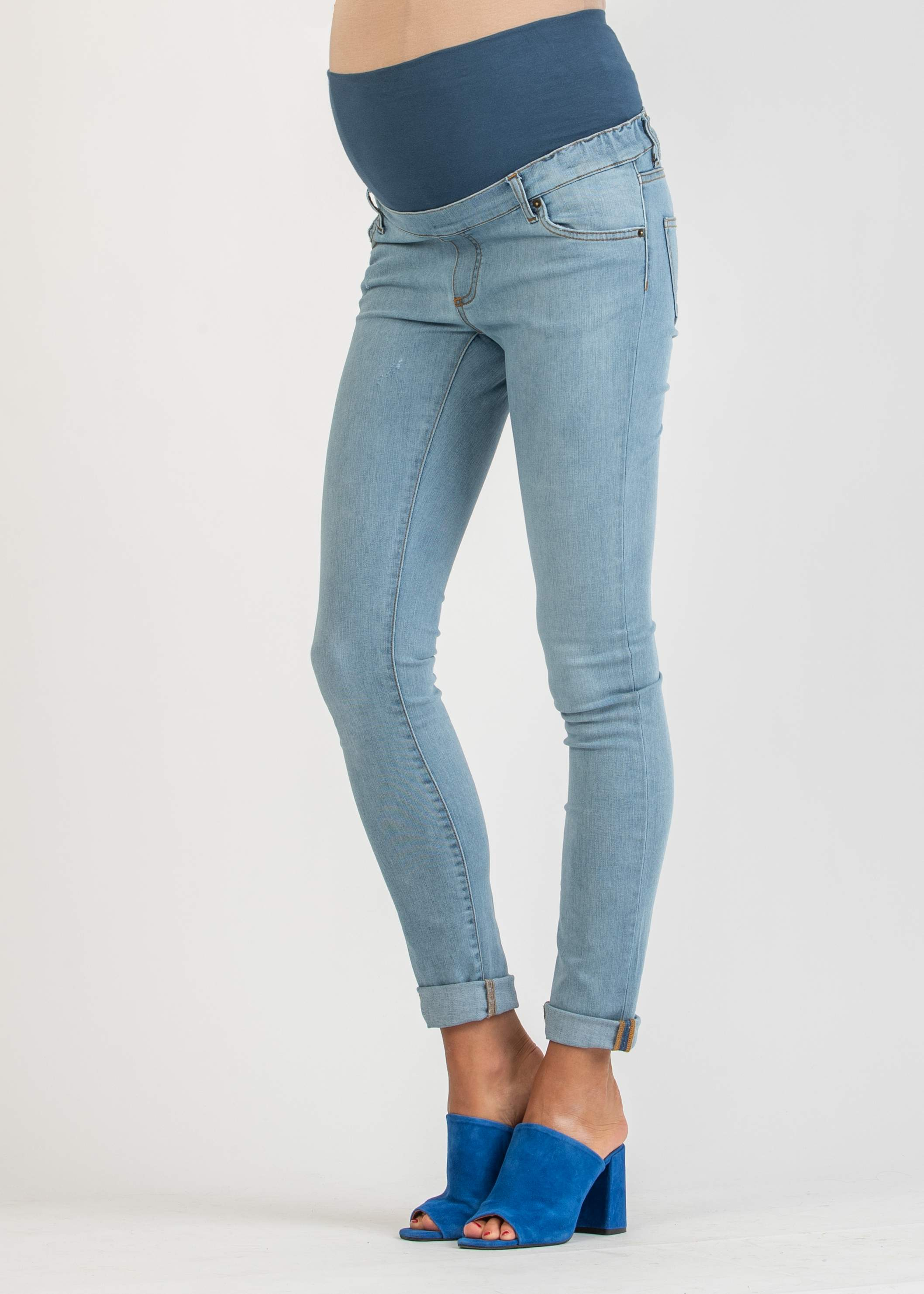 Light Wash Skinny Maternity Jeans