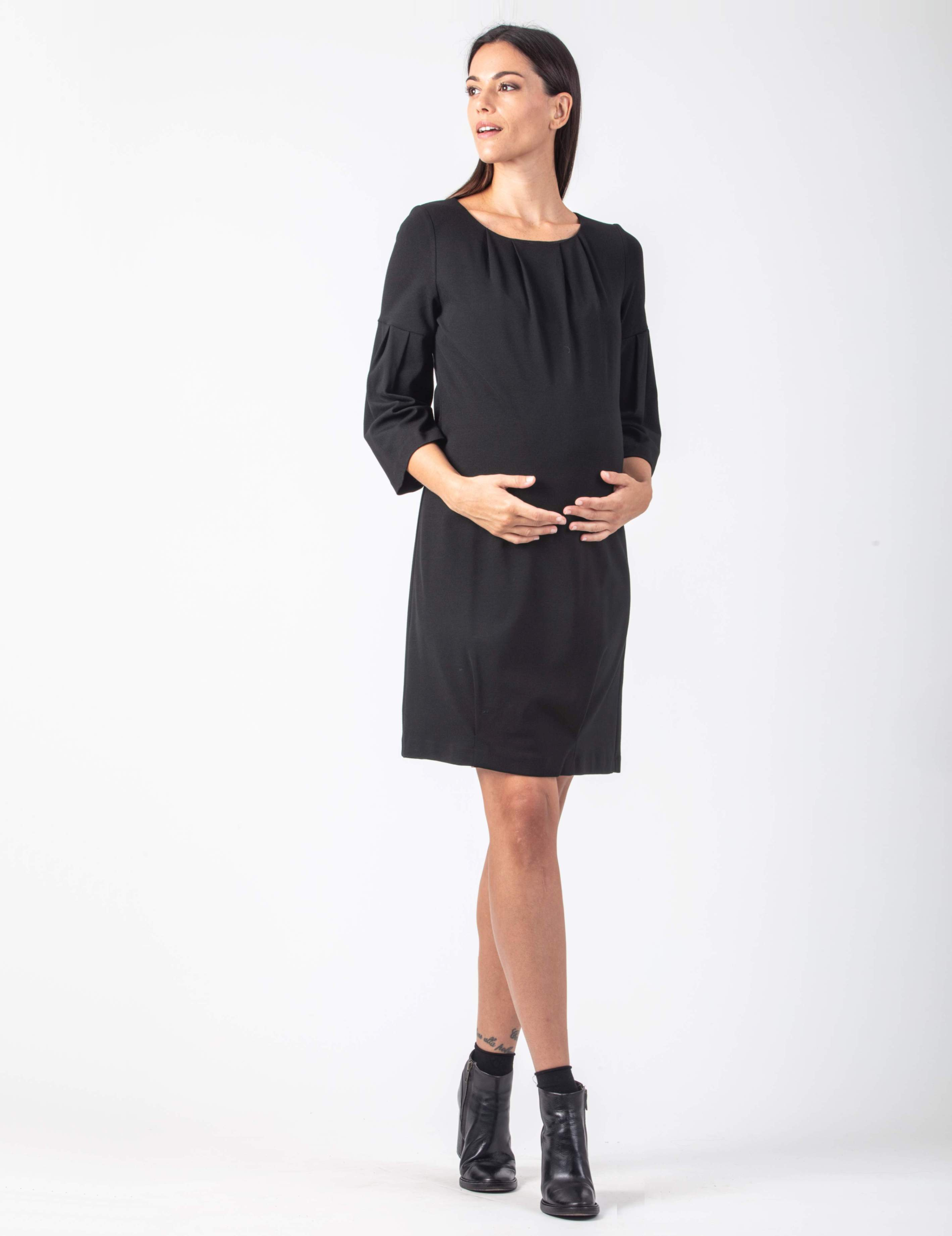 Maternity Dress with Folds