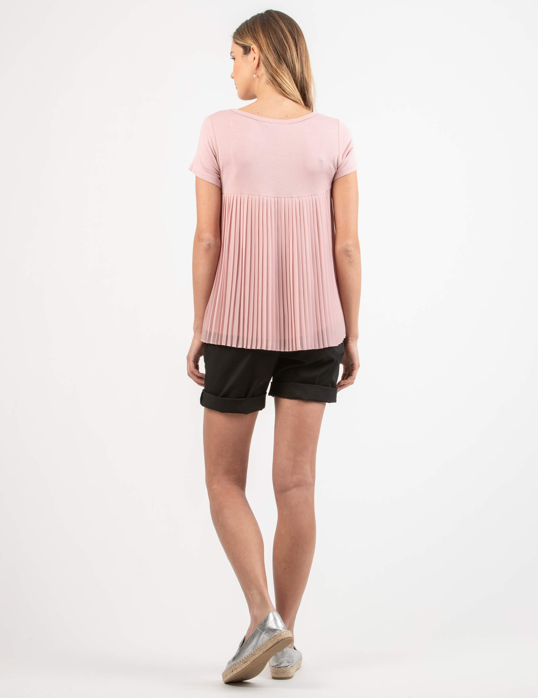 Pleated Back Maternity T-shirt