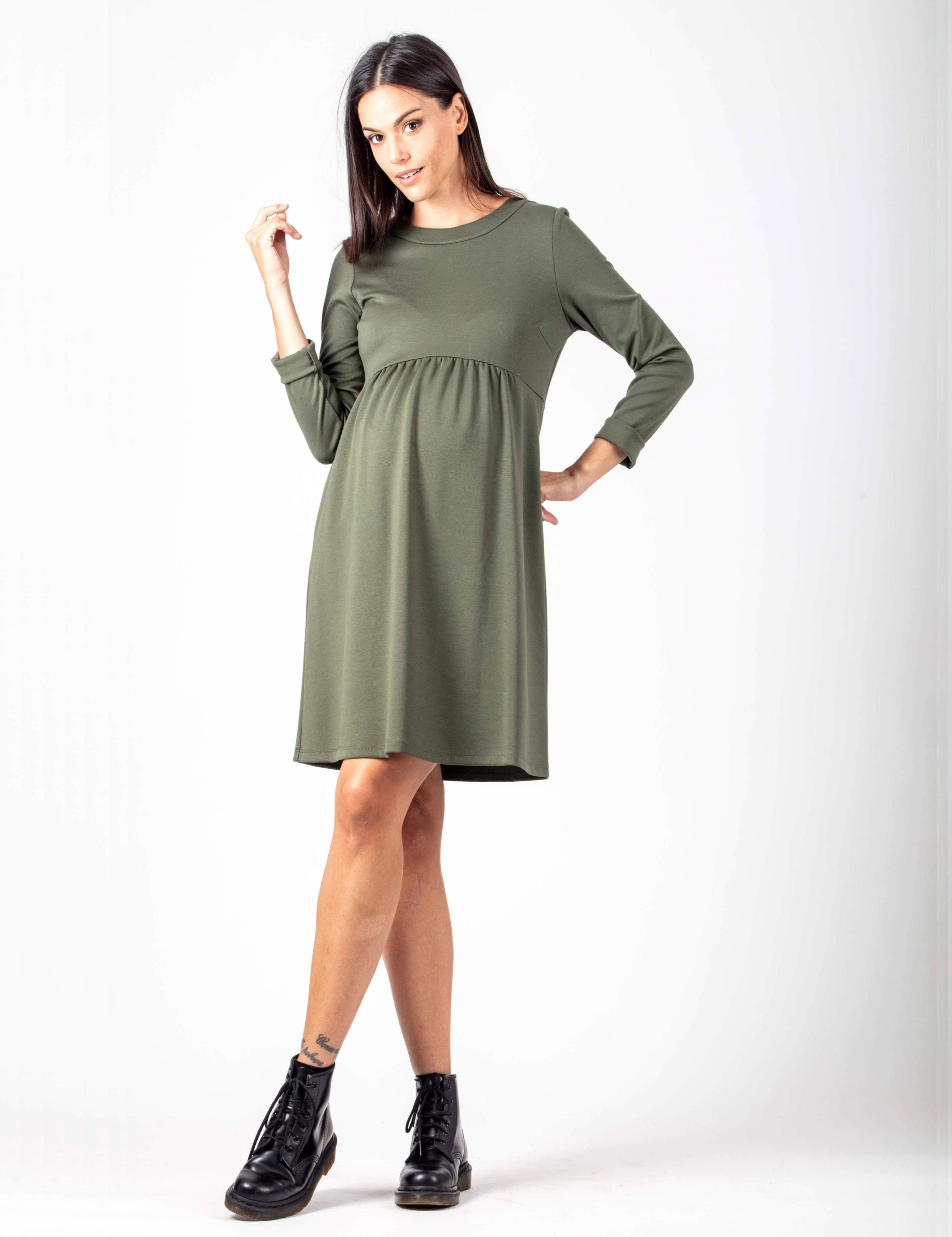 Maternity Dress with Back Zip