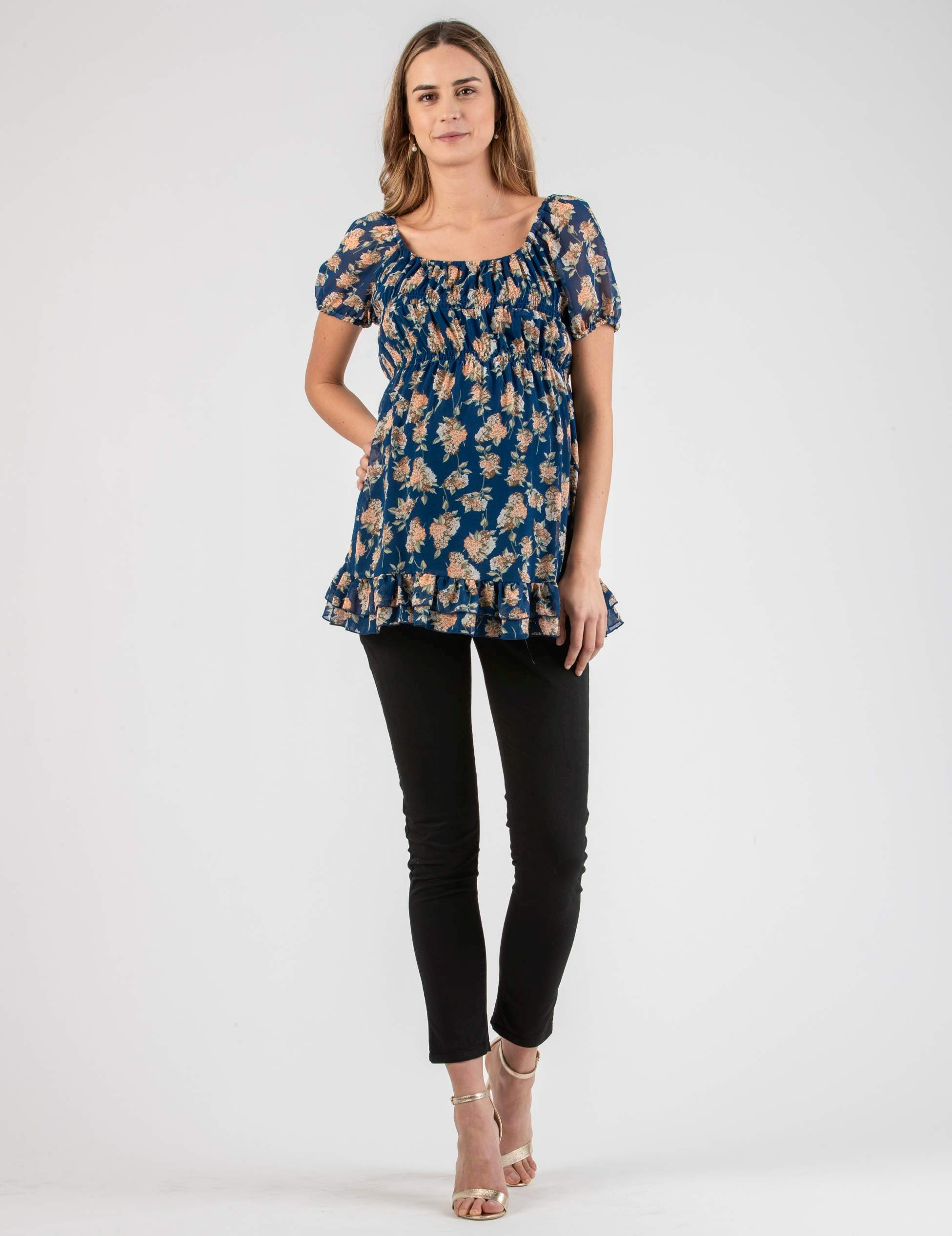 Maternity Top with Rouched Hem