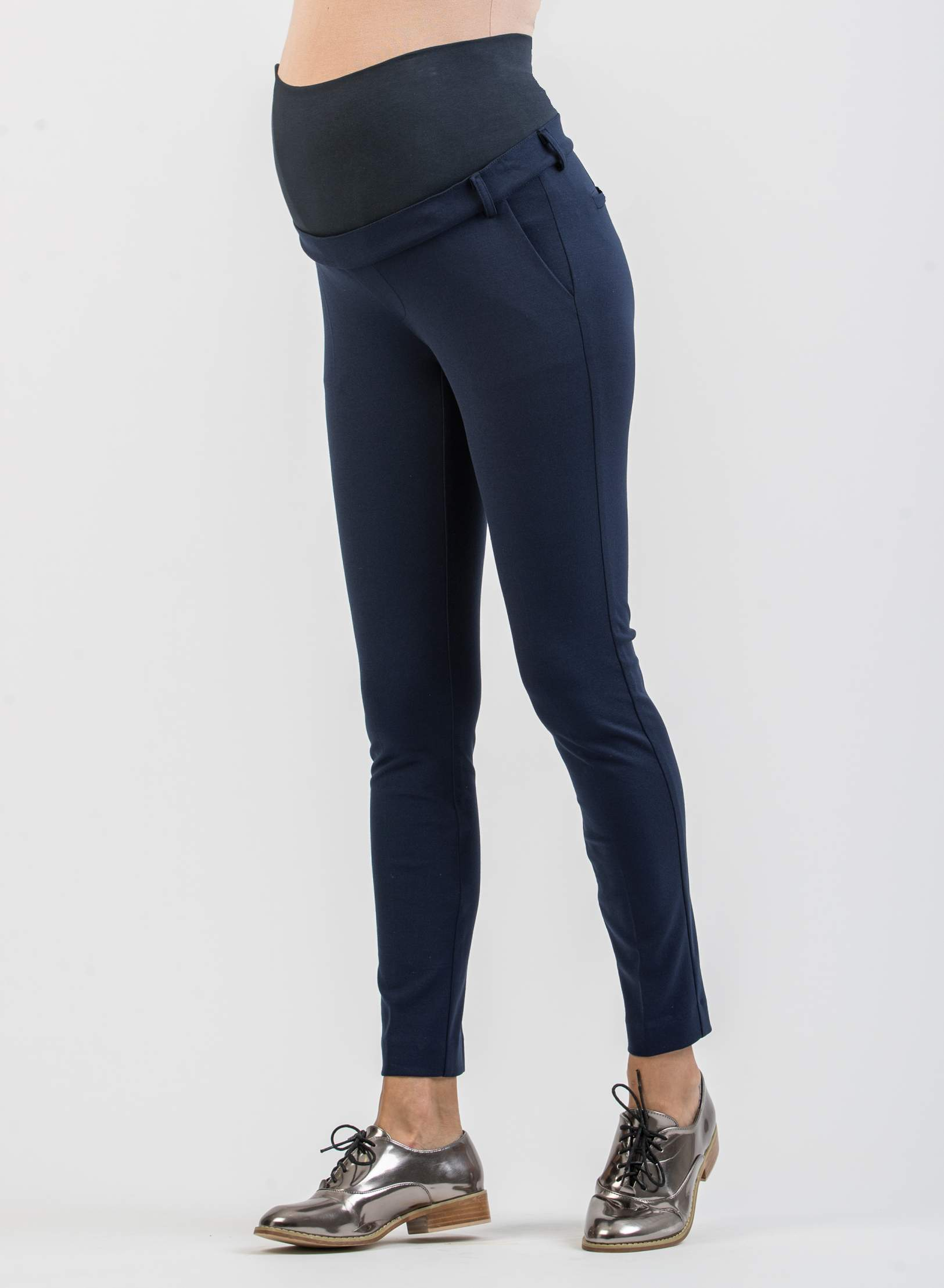 Tailored Cropped Maternity Trousers