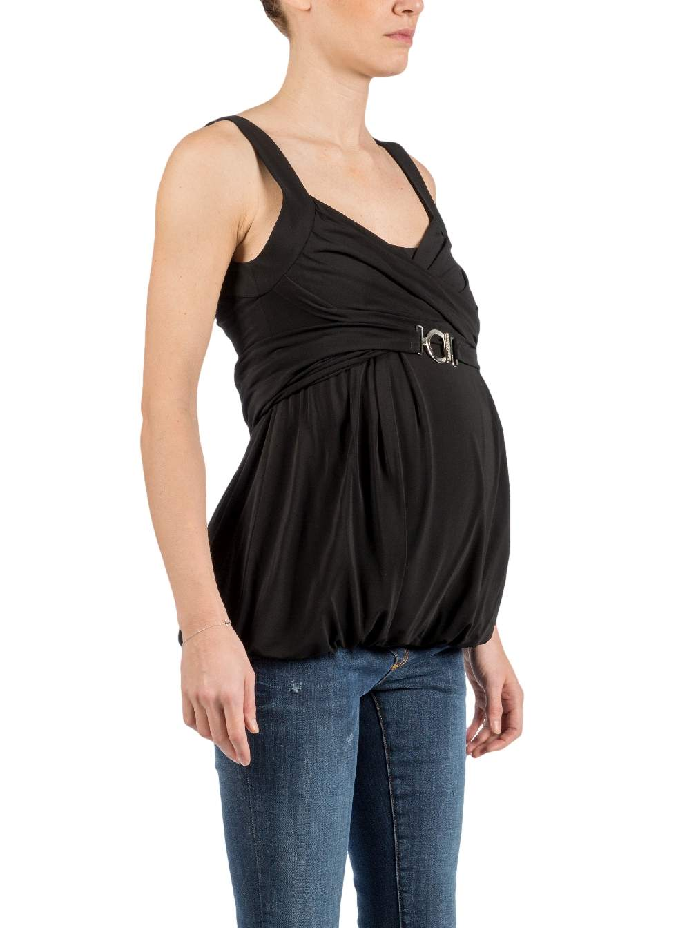 Maternity Top in Shiny Viscose