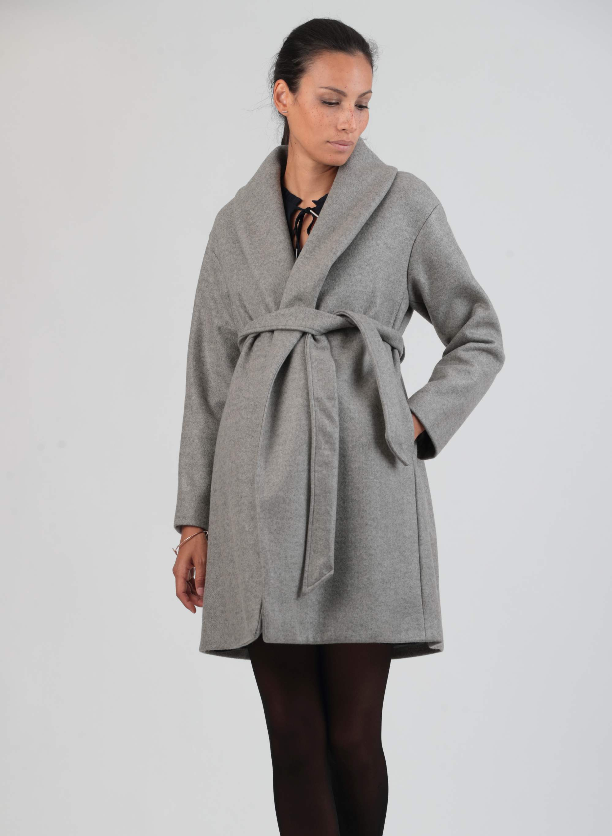 Maternity Coat with Belt