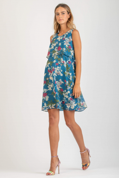 Maternity & Nursing Dress with Back Knot