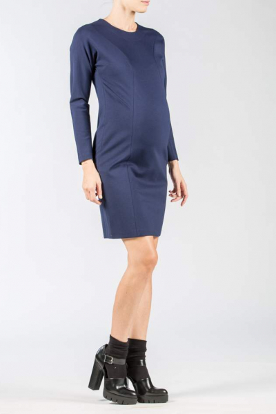 Bodycon Maternity Dress with Seams