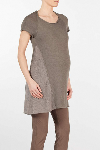 Maternity Tunic with Mohair Detail