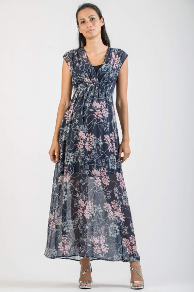 Floral Print Maternity & Nursing Dress