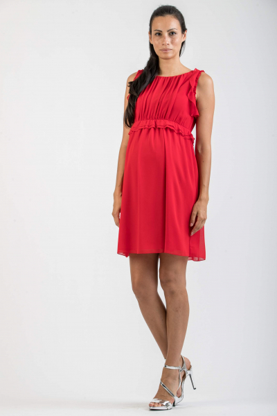 Maternity Dress with Frilled Waist