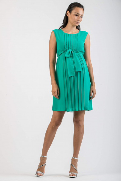 Pleated Maternity Dress