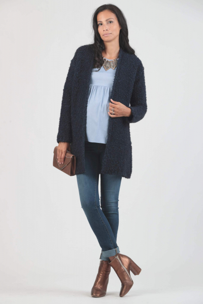 Boucle' Maternity Coatigan