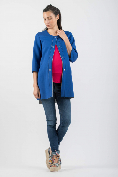 Buttoned Maternity Coat
