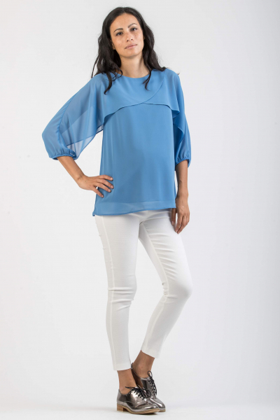 Maternity Top with Voluminous Sleeves