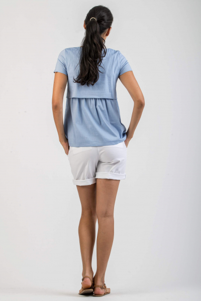 Maternity Shorts in Lightweight Cotton