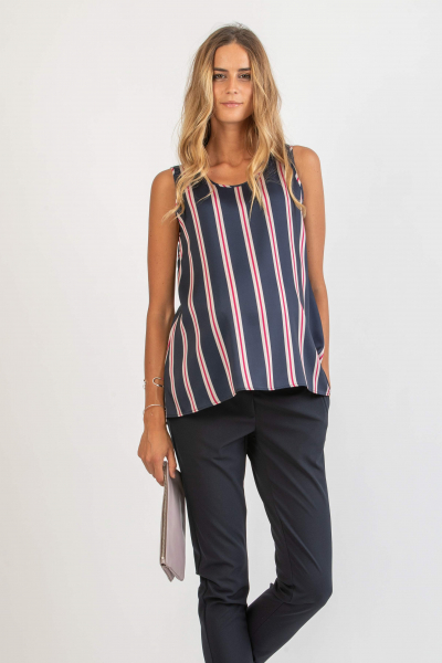 Retro Style Striped Maternity Top