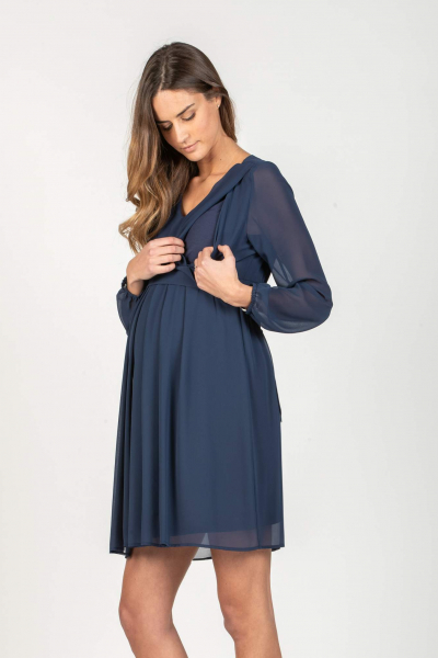Maternity & Nursing Dress in Chiffon