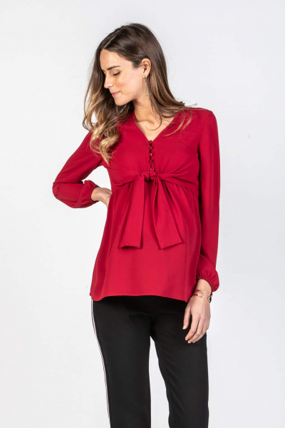 Maternity & Nursing Blouse with Front Knot