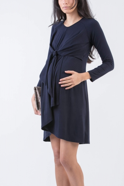 Maternity Dress with Front Knot
