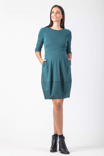 Maternity Dress with Cocoon Skirt