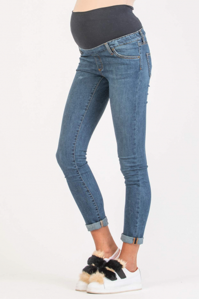 Medium Wash Skinny Maternity Jeans