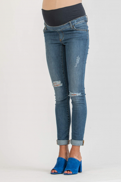 Ripped Skinny Fit Maternity Jeans