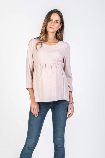 Maternity Blouse with Waist Gathering
