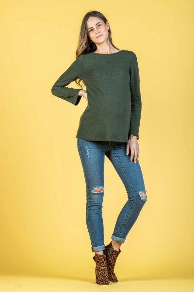 Maternity Sweater with Front or Back Zip