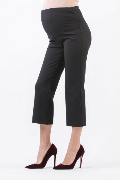 Flared Cropped Maternity Trousers