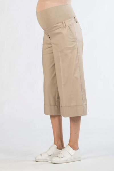 Staight-Fit Cropped Maternity Trousers