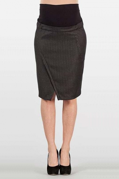 Pinstripe Maternity Pencil Skirt