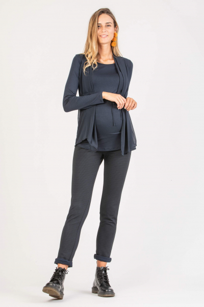 Ponte Maternity Trousers with Micro-pattern