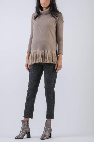 Maternity Sweater with Fringe