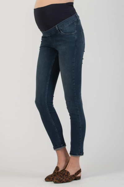 Super-Stretch Maternity Jeans with Dark Wash