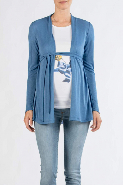Maternity Cardigan with Chiffon Detail