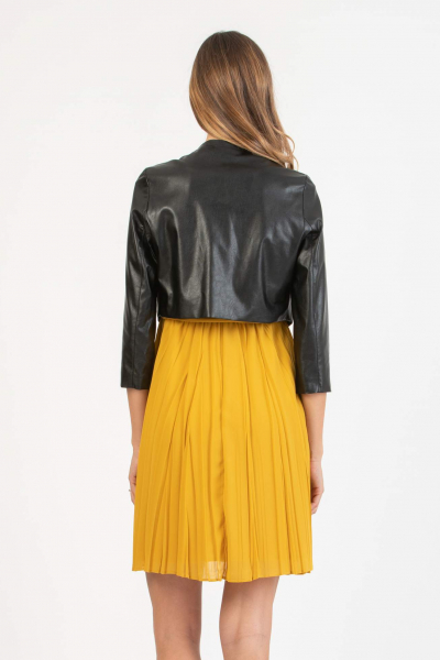 Short Maternity Jacket in Eco-leather