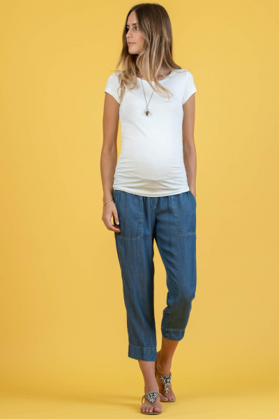 Pantalone Premaman Relax Fit in Tencel
