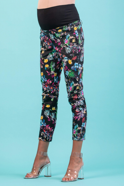 Floral Printed Tailored Maternity Trousers