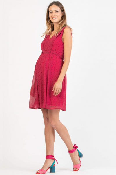 Polka Dots Maternity & Nursing Dress