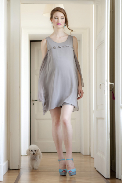 Asymmetric Maternity Dress